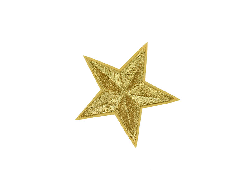 applicatie ster goud 8 cm