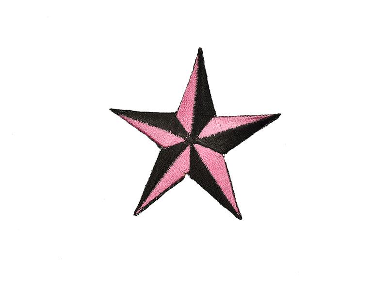 applicatie ster roze zwart
