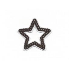 applicatie ster uitgesneden met zwarte pailletten