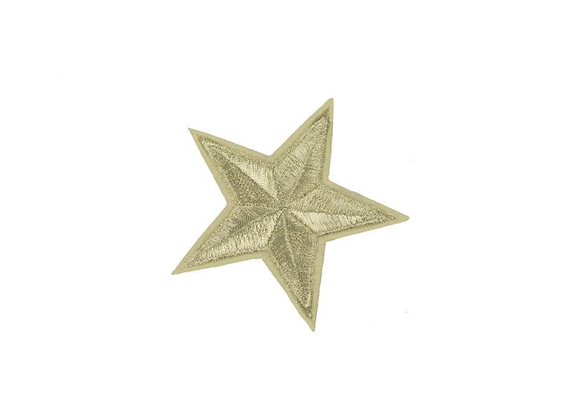 applicatie ster zilver 8 cm