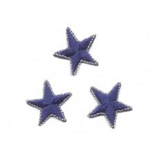 applicatie sterren blauw 2.5 cm (3 stuks)