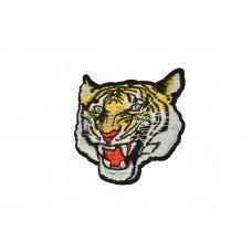 applicatie tijgerkop wit geel
