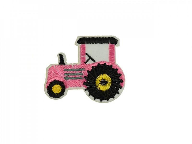 applicatie tractor roze met zwarte banden