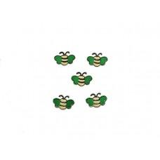 applicatie vliegjes groen 5 stuks