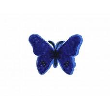 applicatie vlinder donkerblauw zwart
