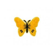 applicatie vlinder geel zwart
