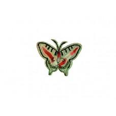 applicatie vlinder glanzend groen goud
