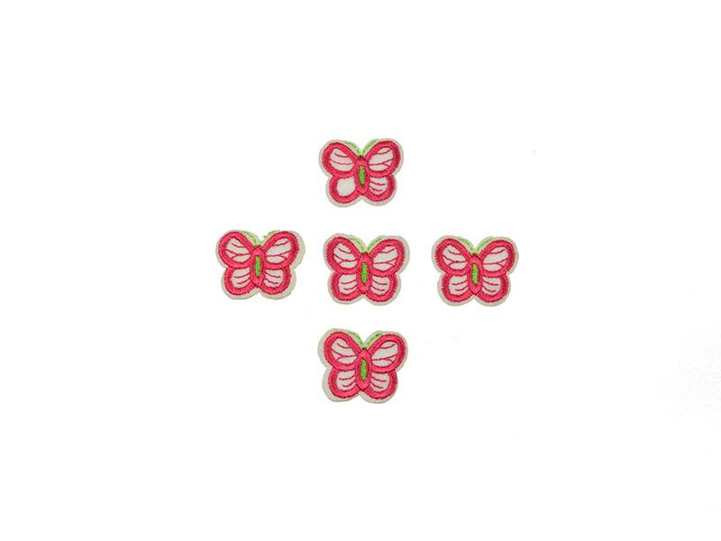 applicatie vlinders roze 5 stuks