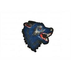 applicatie wolf fluweel kobalt blauw rechts