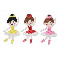 ballerina patch set opstrijkbaar 3 stuks