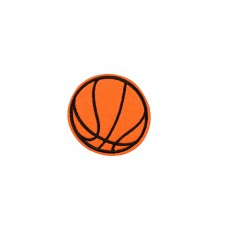 basketbal patch op vilt geborduurd