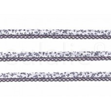 biaisband met kant & print