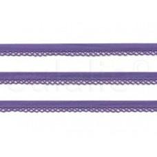 biaisband met kantje paars