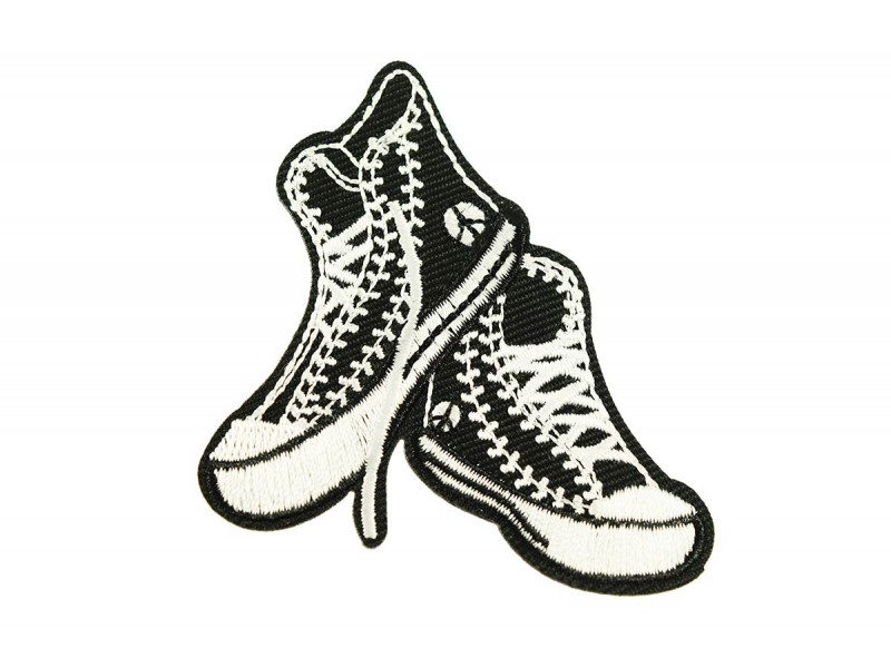 Black sneakers patch