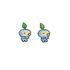 blauwe mannetjes patch 2 stuks