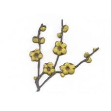 Bloem applicatie bloesemtak geel