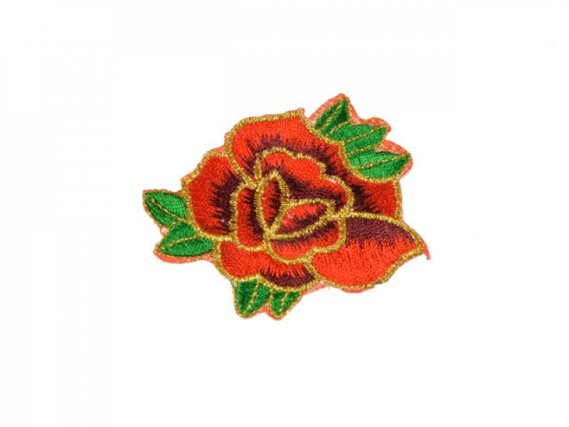 bloem applicatie roos rood goud