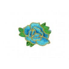 bloem applicatie turquoise goud