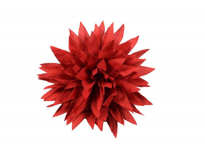 bloem corsage donker rood