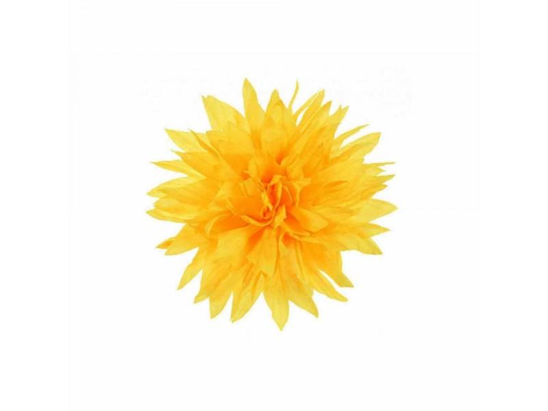 bloem corsage geel dahlia