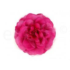 bloem corsage met kralen stamper fuchsia