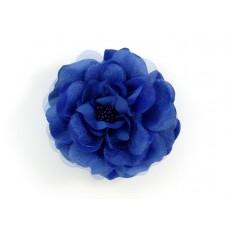 bloem corsage met kralen stamper kobaltblauw
