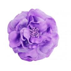 bloem corsage met kralen stamper lila