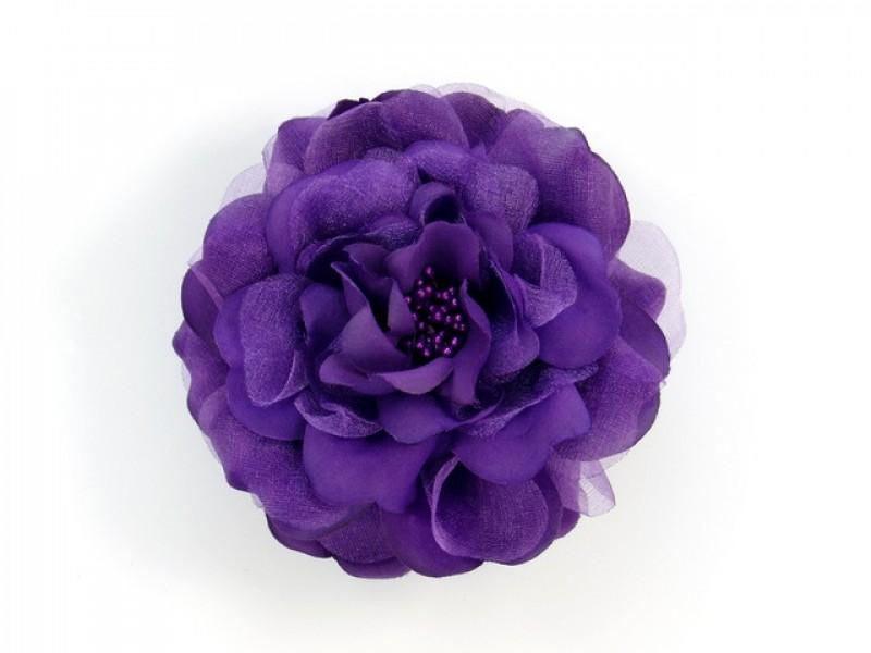 bloem corsage met kralen stamper paars