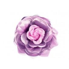 bloem corsage met organza bladeren roze zwart