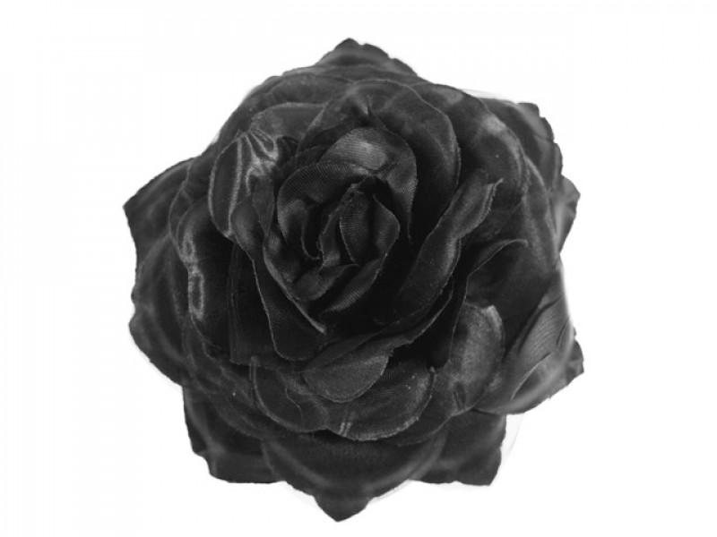 bloem corsage met organza zwart