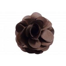 bloem corsage organza bruin