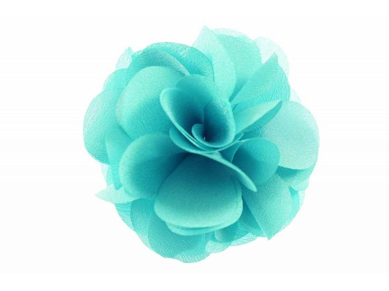 bloem corsage organza neo mint groen