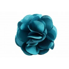 bloem corsage organza petrol groen