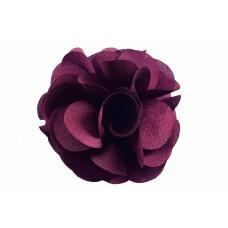 bloem corsage organza wijnrood