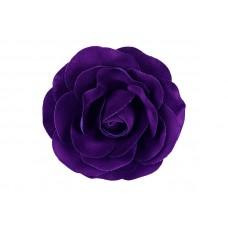 bloem corsage roos velours diep paars