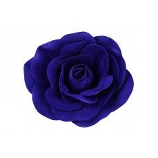 bloem corsage roos velours koningsblauw