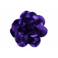 bloem corsage satijn glans paars XL 14 cm