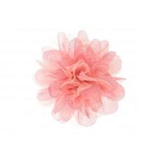 bloem corsage tule zacht roze glitter