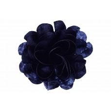 bloem corsage velours indigo blauw