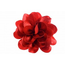 bloem corsage velours rood