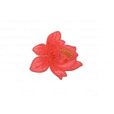 bloem patch fuchsia rood