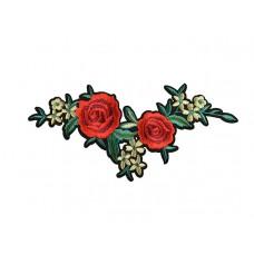 Bloemen applicatie rode roos groen blad