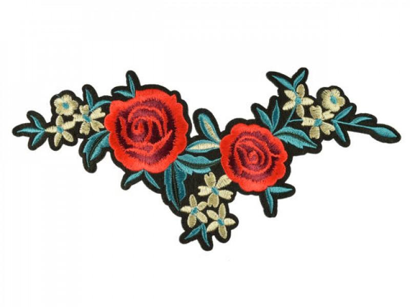 Bloemen applicatie rode roos op grote tak