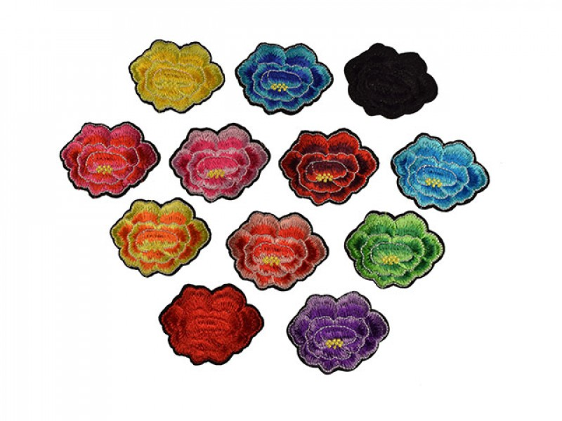 bloemen applicaties set 12 kleuren