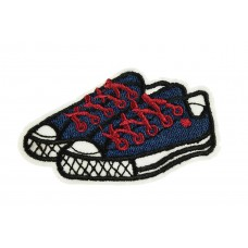 Blue sneakers patch