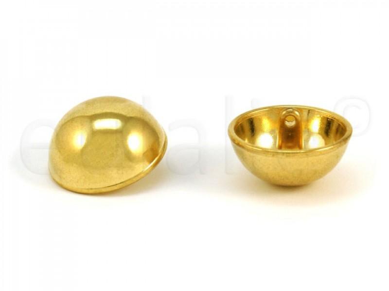 bolvormige gouden knoop 2.8 cm