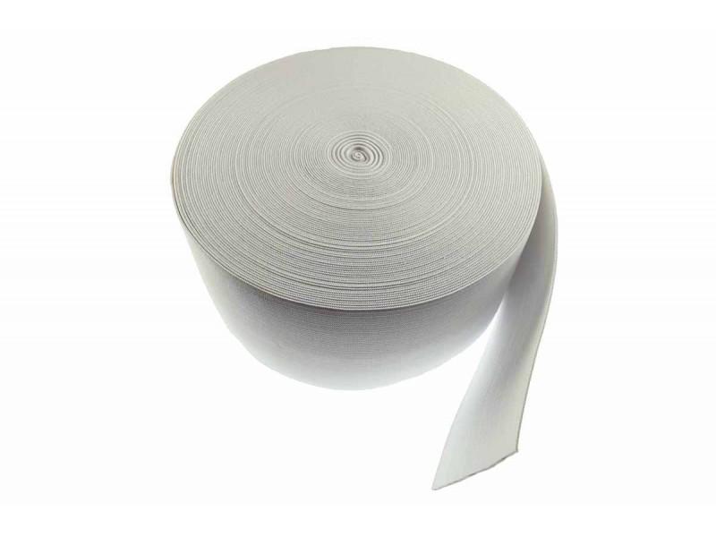 breed elastiek 10 cm wit per meter