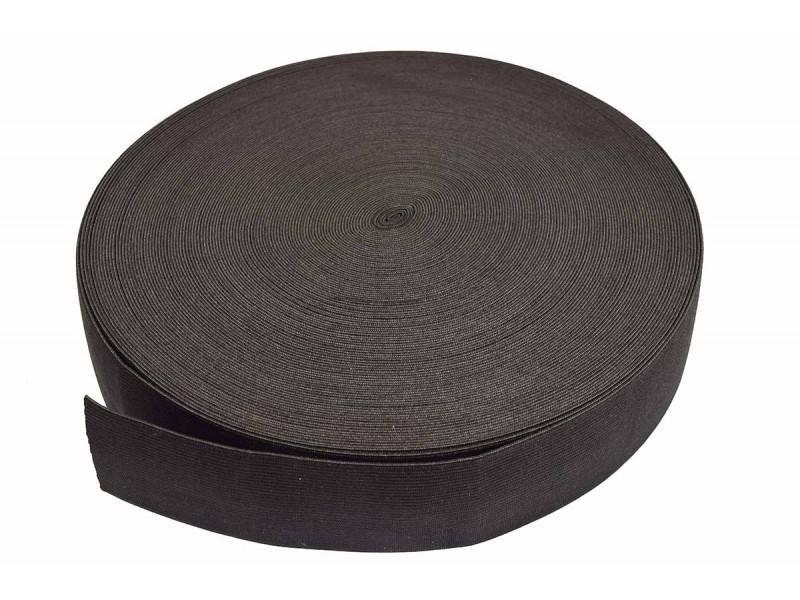 breed elastiek 6 cm zwart per meter
