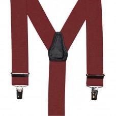 bretel 3 clips rood bruin 35 mm breed 120 cm lang