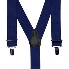 bretel 3 clips marineblauw 35 mm breed 120 cm lang
